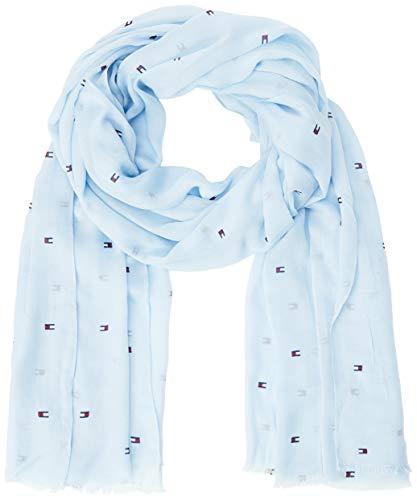 Tommy Hilfiger Damen Flag Allover Print Schal, Blau (Breezy Blue C1O), One size (Herstellergröße: OS)