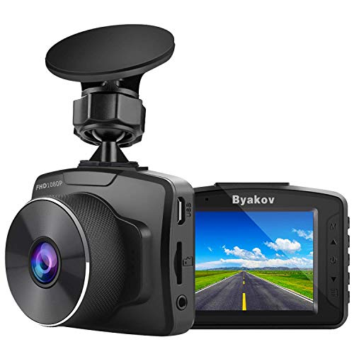 Byakov Upgraded Dash Cam 2 Inch LCD Screen 1080P Full HD Dash Camera for Cars with G-Sensor, WDR, Loop Recording, 170°Wide Angle, Night Vision, Motion Detection, Support 128GB Max