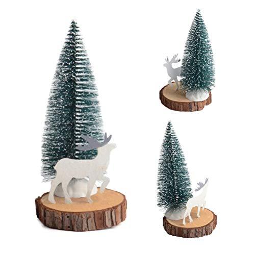 Mini Artificial Sisal Snow Frost Árbol de Navidad Plástico Botella Cepillo Árbol de Navidad para Decoración de Navidad