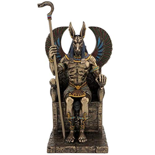 Studio collection Pharaon Roi dEGYPTE Antique Statue Neuve r/ésine Couleur Laiton Figure antiquit/é 23cm