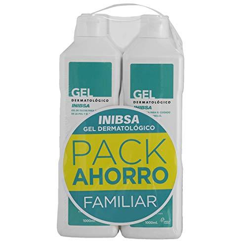Geles Inibsa - Gel Dermatológico 1000 ml, Gel de ducha para el cuidado de la piel y el cabello, Ahorro Pack Dermatologico