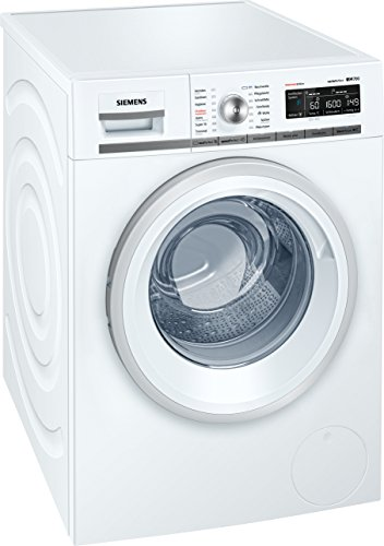 Siemens WM16W5S1AT Libera installazione 9kg 1552RPM A++ Argento, Bianco Front-load lavatrice