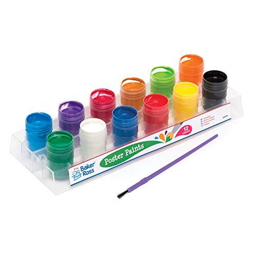 Baker Ross Töpfe mit Plakatmalfarbe (12 Stück) – für Kinder zum Malen und Basteln
