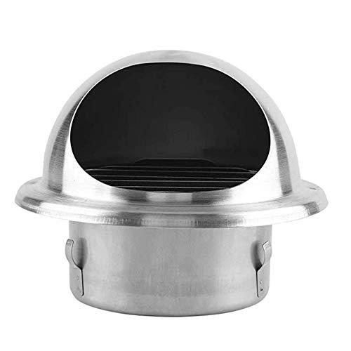 JXJ Cubierta de Rejilla de ventilación Redonda de Acero Inoxidable Cubierta de conducto de ventilación Difusor de Techo de Pared para el hogar Suministro de Escape para baño, Oficina, Cocina, ve