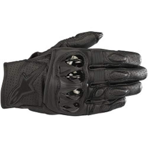 Alpinestars 35670181100-L Motorrad Handschuhe, Schwarz/Schwarz, L
