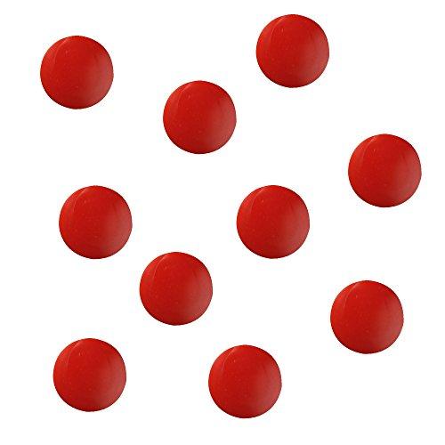 10 Herlitz Flachmagnete / rund / Farbe: rot