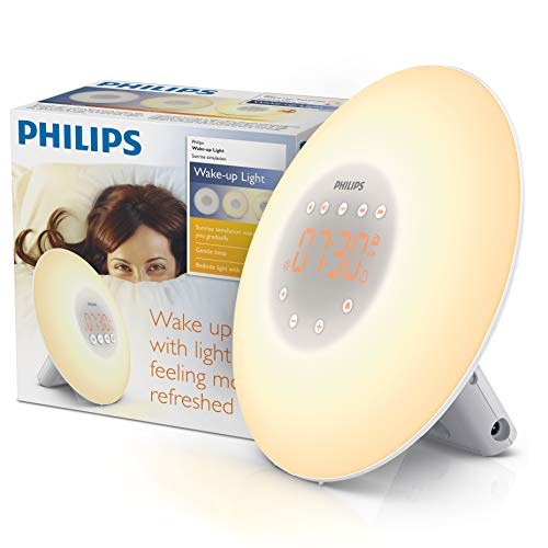 Philips SmartSleep HF3500/60 Wake-Up Light Therapy Alarm Clock with Sunrise Simulation, White