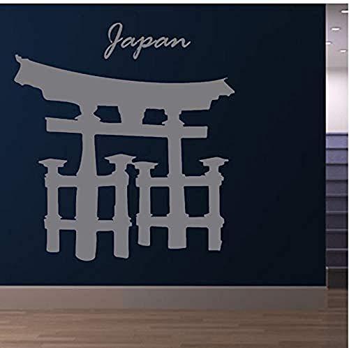 Hochwertige Vinyl Wandaufkleber Religiöses Gebäude Torii Gate Wohnzimmer Wand Japan 47x44cm