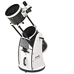 """10"""" (254 mm) Dobsonian-style Newtonian, 1200 mm focal length (f/5), 2"""" Crayford-style focuser with 1.25"""" adaptor 4-element Plossl 25 mm and 10 mm 1.25"""" eyepieces, 8x50 RA viewfinder Solid rocker-mount with Teflon bearings and tension clutch, Collapsi..."""