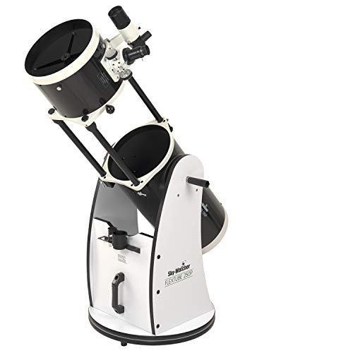 Celestron Sky-Watcher Flextube 250 Dobsonian 10-inch Collapsible Large Aperture Telescope – Portable, Easy to Use, Perfect for Beginners, White/Black (S11720)