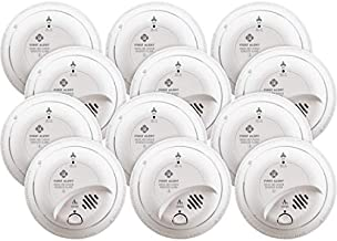 First Alert BRK SC9120B-12 Hardwired Smoke and Carbon Monoxide (CO) Detector with Battery Backup, 12-Pack