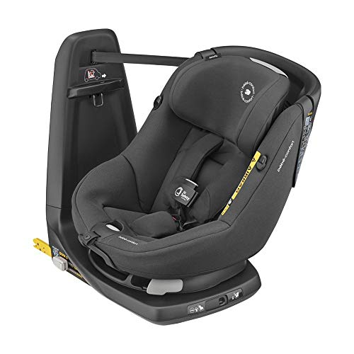 Bébé Confort Axissfix Air Seggiolino Auto Isofix con Airbag Integrati, Girevole 360 e Reclinabile, R129 I-Size, 4 Mesi- 4 Anni, Colore Authentic Black
