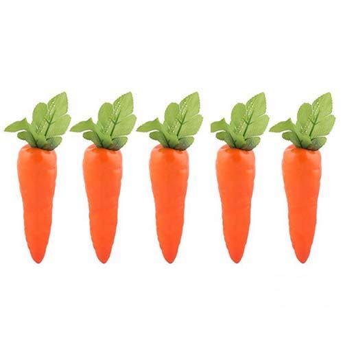 Lorigun 5 Stück Simulation Karotten Künstliches Gemüse Home & Kitchen Dekorationen