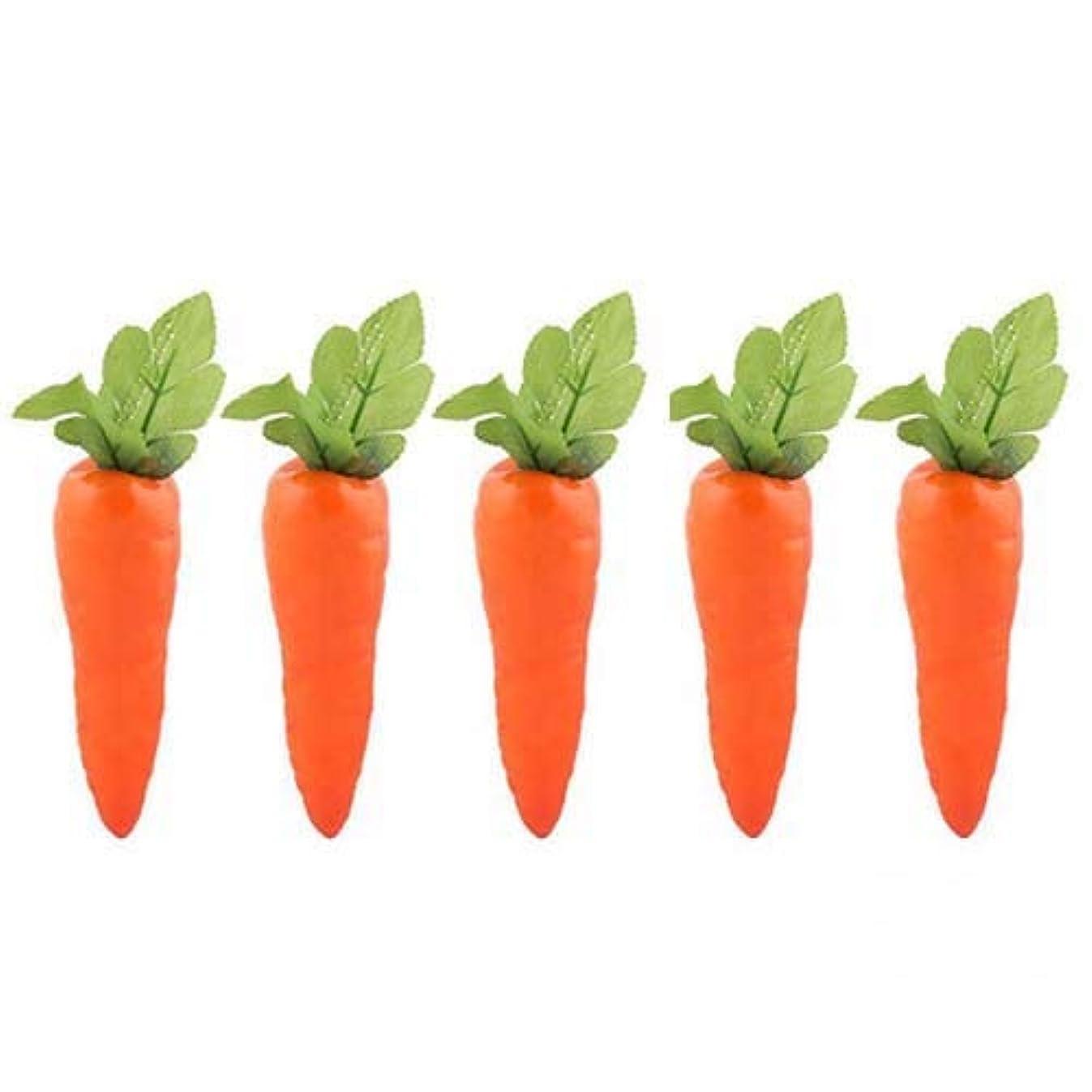 Lorigun 5 Pcs Simulation Carrots Artificial Vegetables Home&Kitchen Decorations