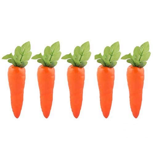Lorigun 5 Pcs Simulation Carrots Artificial Vegetables Home&Kitchen Decorations