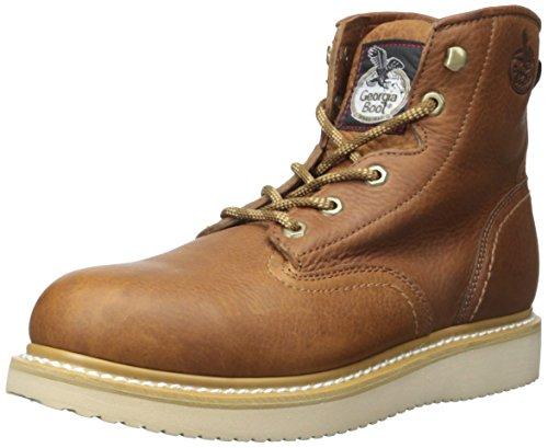 Georgia Men's Wedge Farm & Ranch Boots - G6342, 10.5 M US, Barracuda Gold