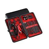 ZYCX123 18pcs del Sistema de manicura pedicura Kit de Aseo Nail Clippers Herramientas Cuidado Caso manicura del Acero Inoxidable Accesorios Negro
