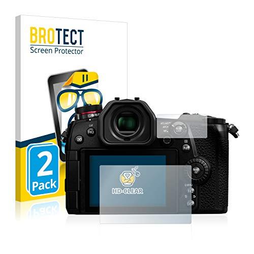 BROTECT Schutzfolie kompatibel mit Panasonic Lumix DC-G9 (2 Stück) klare Bildschirmschutz-Folie
