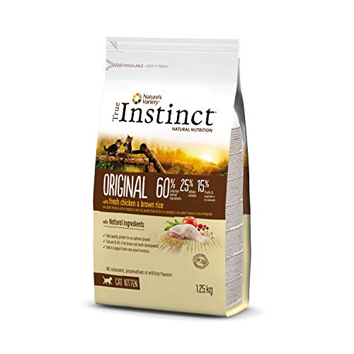 True Instinct Original - Pienso para Gatos Kitten con pollo - 1,25kg