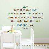 DECOWALL DS-8001 Alfabeto Inglese ABC e Animali (Ver. Inglese) (Piccolo) Adesivi da Parete Decorazioni Stickers Murali Soggiorno Asilo Nido Camera Letto per Bambini decalcomanie
