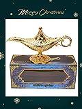 Genielampe Aladdins Lampe Oil Lampe Teekanne, Retro Alladin Lampe, 11 x 21 cm Wunderlampe Aladdin - 5