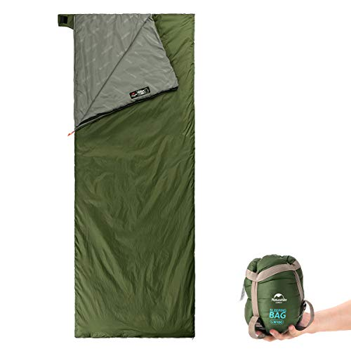 Naturehike Sleeping Bag - Large Envelope Lightweight Portable, Waterproof, Comfort with Compression Sack - Great for 3 Season Traveling, Camping, Hiking, Outdoor Activities for Men Man
