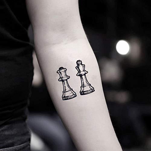 Chess Piece Temporary Fake Tattoo Sticker (Set of 2)
