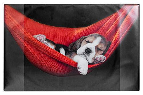 Idena 14015 - Schreibunterlage aus Kunststoff mit zwei Einstecktaschen, Motiv Hund, ca. 68 x 44 cm, für Kinder und Tierliebhaber, Zubehör für Büro, Kinder- und Arbeitszimmer, abwaschbar