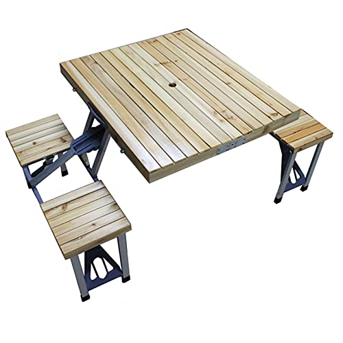 Juego de mesa y silla plegable para exteriores, mesa de picnic portátil,...
