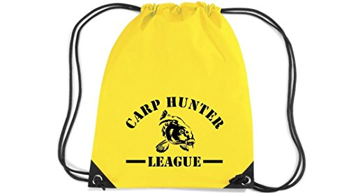Camiseta stown Premium gymsac Carp Hunter League Pesca, color Amarillo - amarillo,...