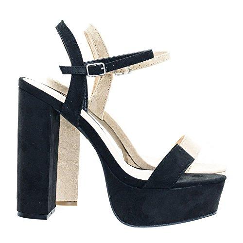 Retro Classic Chunky Block Heel Platform Open Toe Dress Sandal