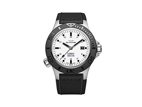 Glycine Combat Sub Aquarius Automatik Uhr, GL 224, Weiss, 46mm, GL0037