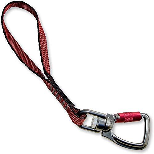 Kurgo Sicherheitsgurt für Hunde mit drehbarem Karabiner Clip, Verbidung von Hundegeschirr zum Sicherheitsgurt, Einheitsgröße, Rot, Swivel Tether, 01179