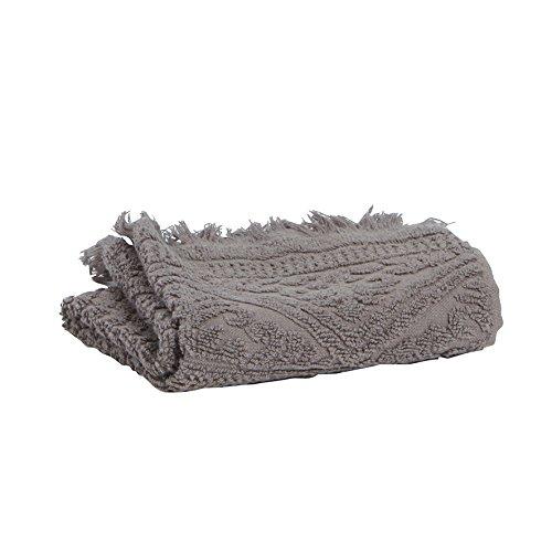 Vivaraise - Serviette de Toilette Zoé - 50x100 cm - Tissu éponge Absorbant 100% Coton - Doux Moelleux - Motif Jacquard Couleur lamie