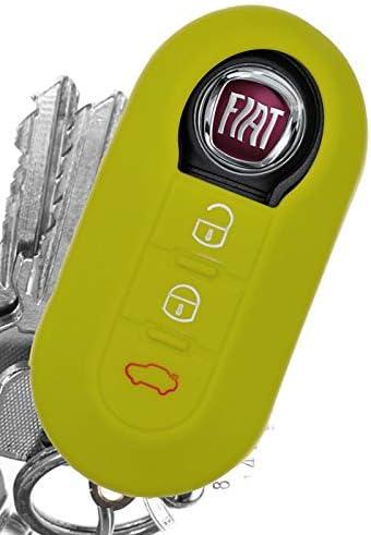 Soft Case Auto Schlüssel Silikon Schutz Hülle Apfelgrün Kompatibel Mit Fiat Ducato 500 Punto Peugeot Boxer