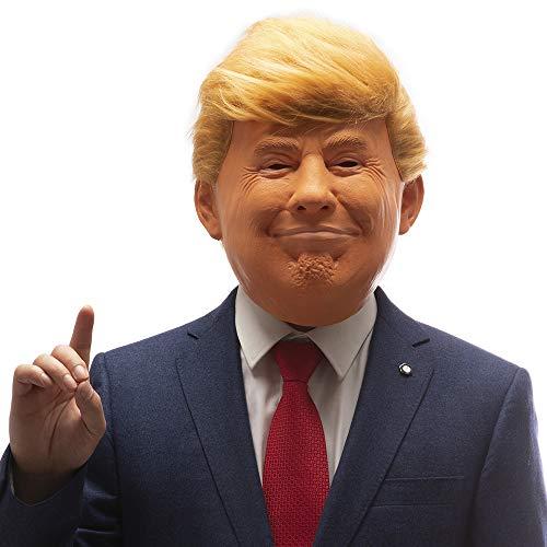PartyHop Maschera in Lattice Donald Trump Presidente Americano Politico Celebrità Gente Famosa Maschere Umane Realistiche Costume in Maschera per Halloween Festa Parata di Carnevale