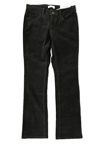 Ann Taylor LOFT Women's Regular & Tall - Curvy Bootcut Corduroy Pants (6 Tall, Coal Gray)