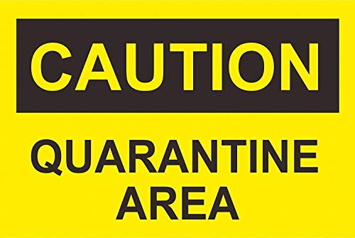 Joycenie Tin Sign New Aluminum Metal Sign Safety Caution Quarantine Area Sign 8x12 Inch