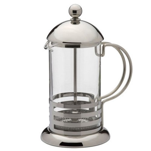 Kabalo 350ml Classic / 3 taza de acero inoxidable Cristal Cafetera francesa filtro de café Prensa émbolo [Classic 350ml / 3-cup Stainless Steel Glass Cafetiere French Filter Coffee Press Plunger]: Amazon.es: Hogar