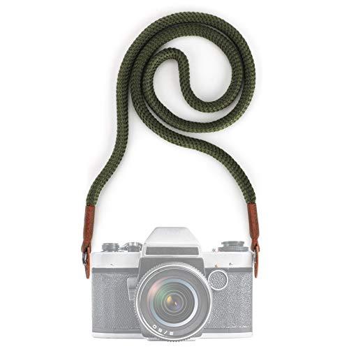 Tracolla per Videocamera Fotocamera, 100 CM Vintage Universale Collo Tracolla Cintura con Imbracatura per Adattatore per Fotocamera DSLR Leica Canon Nikon Fuji Olympus Lumix Sony