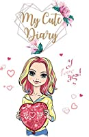 My Cute Diary: Unlined Colored Cute Journal Notebook to Write in for Girls, Women- Colored Pages Notebook with Illustrated Fashion Girls for Journaling, Sketching, Diary- Thick Paper
