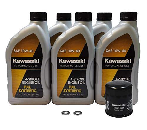 2009-2021 Kawasaki Vulcan 1700 VN1700 OEM Full Synthetic Oil Change Kit KAW119