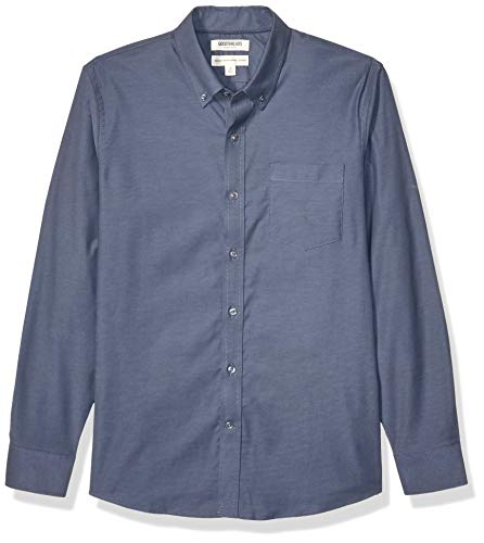 Goodthreads Standard-fit Long-Sleeve Stretch Oxford Shirt (All Hours) Camisa abotonada, azul vaquero, M Tall