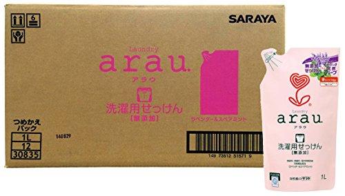 スマートマットライト 【ケース販売】 arau.(アラウ) 洗濯用 せっけん 詰替用 1リットル×12個入
