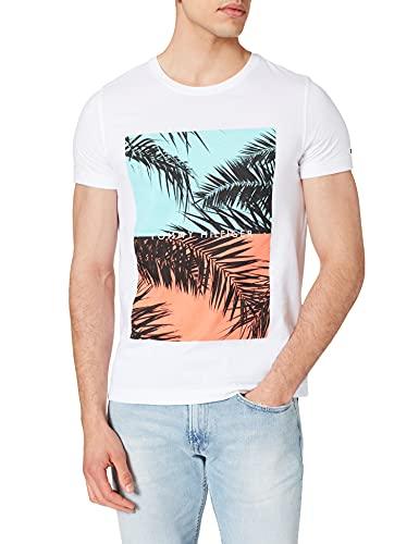 Tommy Hilfiger Photoprint tee Camiseta, Blanco, XL para Hombre