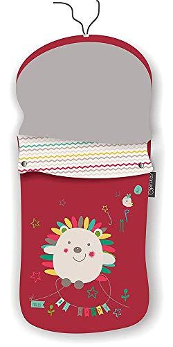 Pirulos 45313510 - Saco carro, diseño espin, 48 x 82 cm, color blanco y lino