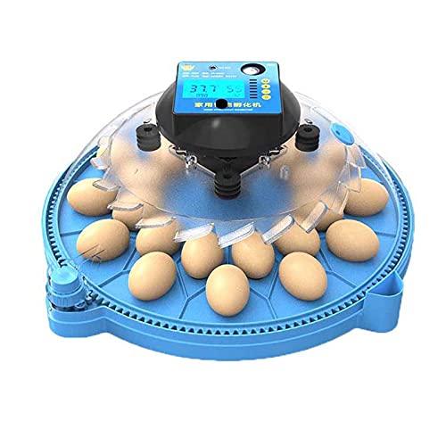 FHISD Incubadora Automática, Incubadora Redonda de Huevos, con Luz LED Giratoria Automática y para Incubar Huevos de Doble Potencia, para Incubar Pollo, Pato, Aves, Máquin