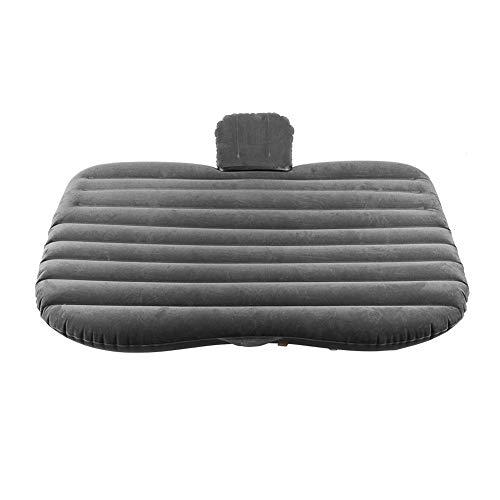 Colchón de aire para coche, asiento trasero, cama acogedora, colchón hinchable en el asiento trasero para el reposo y camping de viaje default grigio argento
