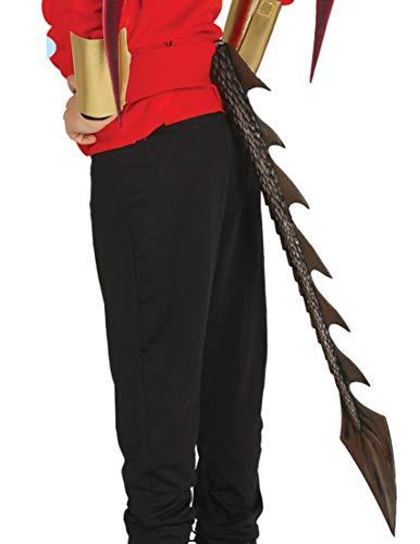 Guirca brauner Drachen Dämon Schwanz Erwachsene Kinder Horror Halloween braun lang 60cm