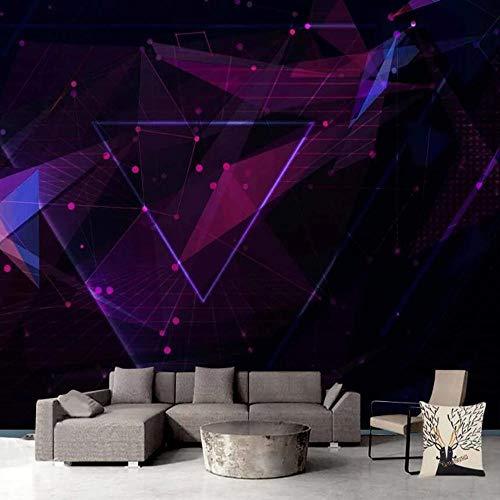3D vliesbehang, fotovlies, premium fotobehang, uitbreiding van de ruimte, televisiewoonkamer, de geometrische curve 3D groot achtergrondbehang, muurschildering 250*175cm #1676